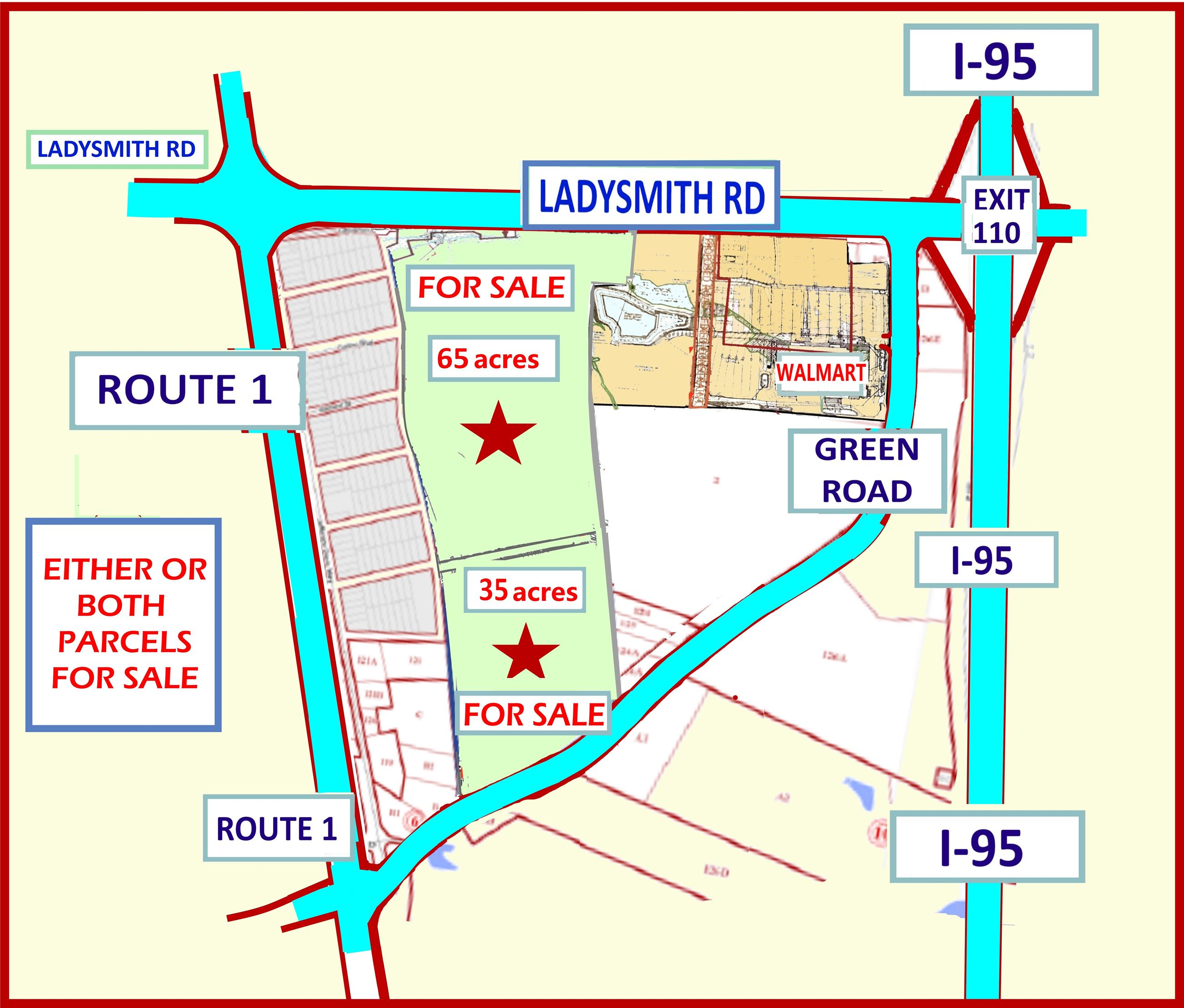 Hamlet - 65-100 Acres at Ladysmith Road and Green