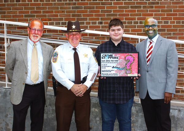 Recognition of the Winner of the Annual Crime Stoppers Poster Contest