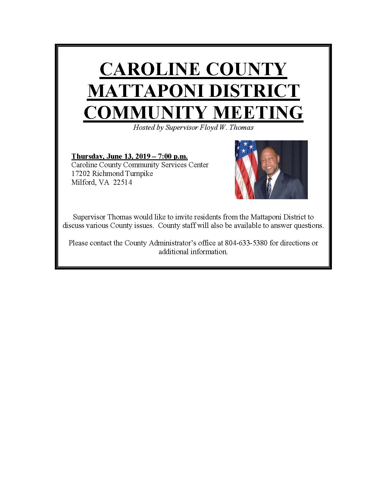 Mattaponi District Community Meeting June 13 2019